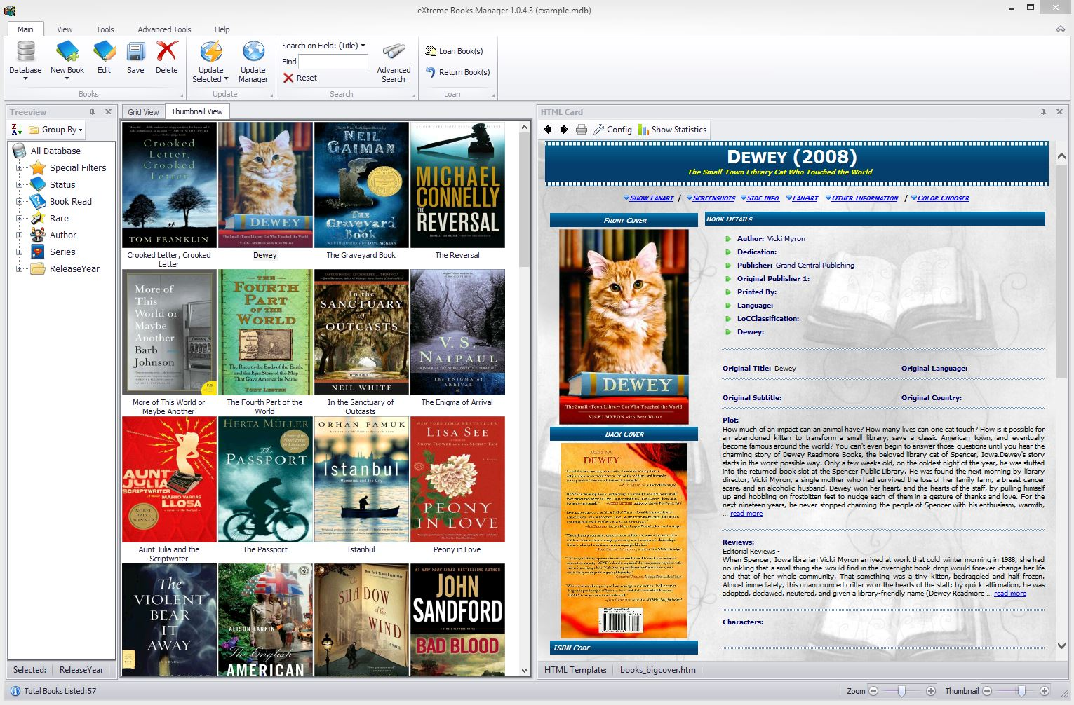 eXtreme Books Manager screenshot
