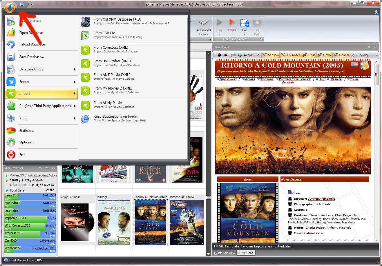 برنامج الفيديو صيغتها eXtreme Movie Manager 7.1.2.8